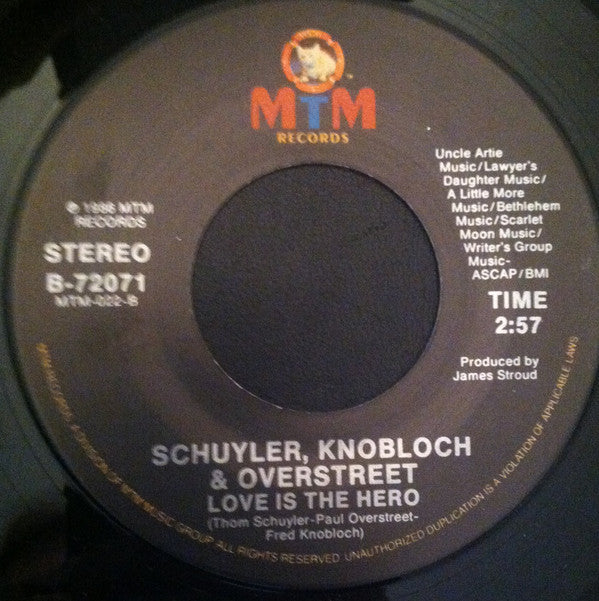 "Schuyler, Knobloch & Overstreet - You Can't Stop Love (7"", Single) (G+)"