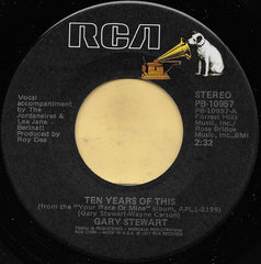 "Gary Stewart - Ten Years Of This / I Ain't Living Long Like This (7"", Single) (VG)"
