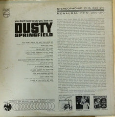 Dusty Springfield - You Don't Have To Say You Love Me (LP, Album) (G+)