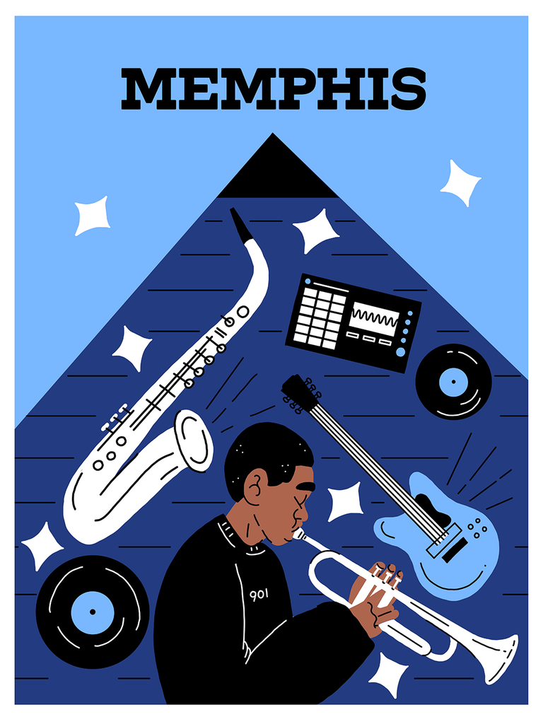 Bring Music Home - Memphis Poster