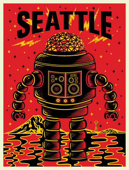 Bring Music Home - Seattle Robot Poster