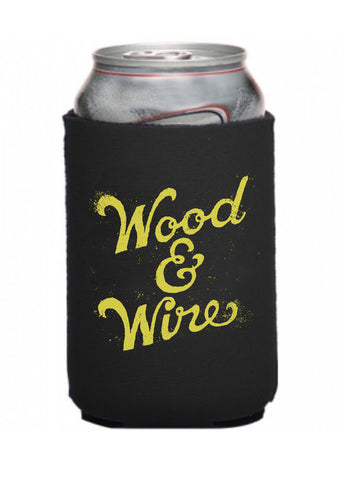Wood & Wire - Black Koozie
