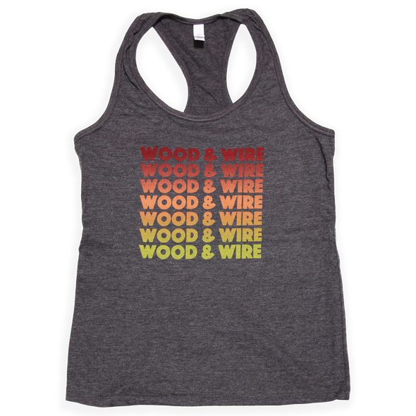 Wood & Wire - Band Name Tank - Grey