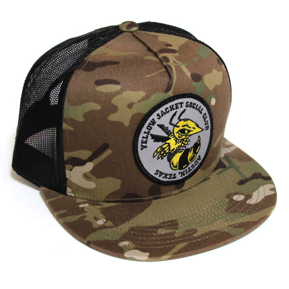 Yellow Jacket - Camo Trucker Hat