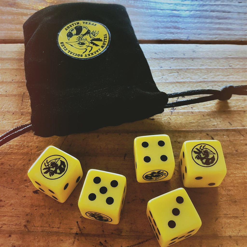 Yellow Jacket Social Club Dice