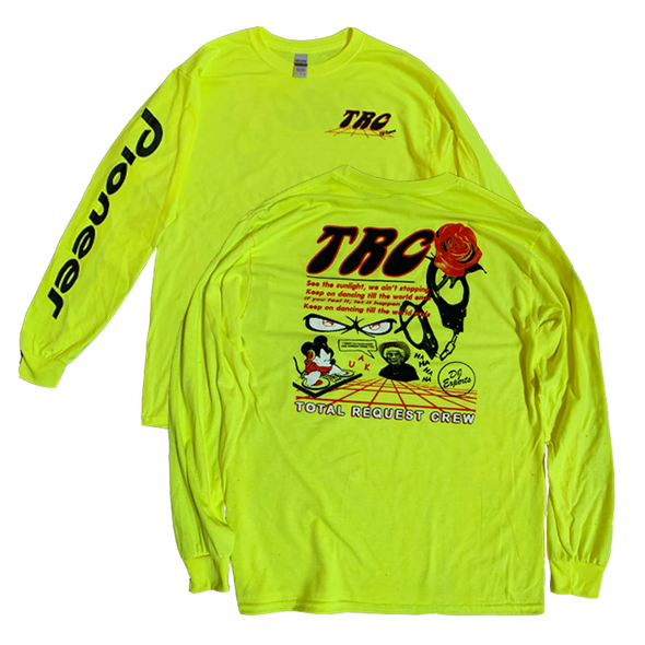Total Request Crew - Safety Green Longsleeve