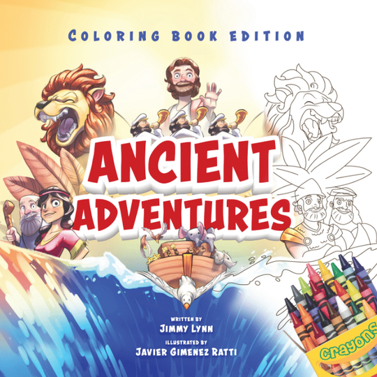 Ancient Adventures: 20 Epic Stories from the Bible (Coloring Book Edition)