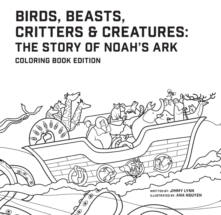 Birds, Beasts, Critters & Creatures : The Story of Noah\'s Ark, Coloring  Book Edition