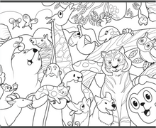 Birds, Beasts, Critters & Creatures : The Story of Noah's Ark, Coloring Book Edition
