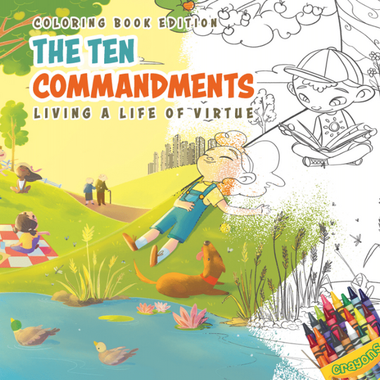 The Ten Commandments: Living a Life of Virtue, Coloring Book Edition