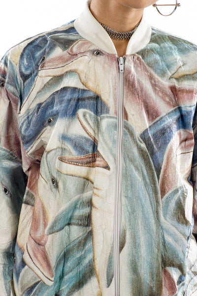 Vintage 90's Dolphin Sweater/Windbreaker - L