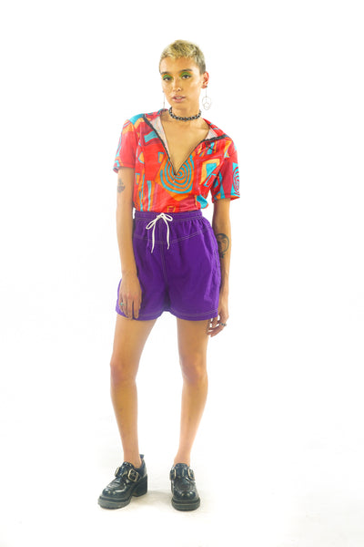 Vintage 90s Purple Sporty Spice Shorts - XS/S