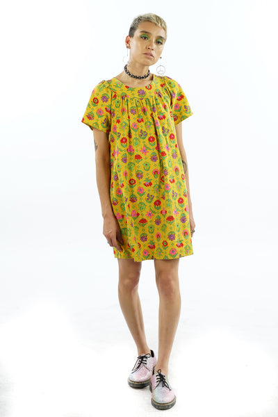 Vintage 70's Flower Dress - XXS