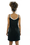 Vintage 90s Black Sporty Spice Double Layer Mini Dress - XS/S