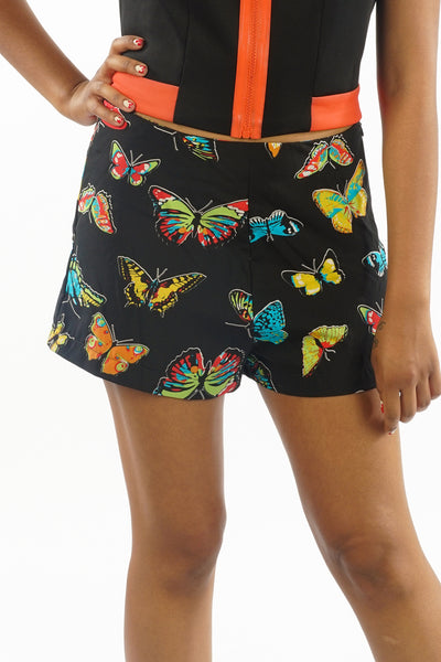Vintage 90's Butterfly Printed Shorts - S/M