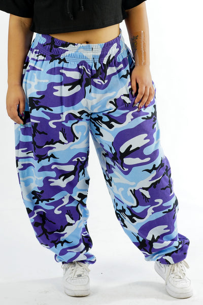 Current Camo Blue Army Sporty Sweat Pants - L/XL/2X
