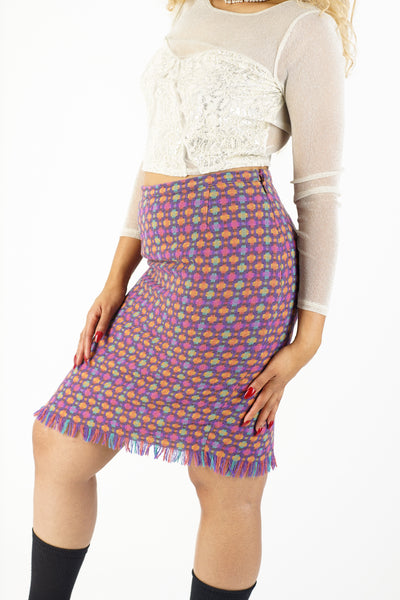 Current Multicolored Woven Skirt - L