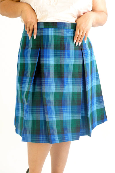 Vintage 90s Plaid Pleated Skirt - 2XL/3XL