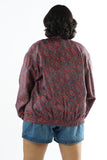 Vintage 90s Red Paisley Windbreaker Jacket - One Size Up to XL