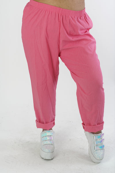 Vintage 90s Hot Pink Pants - 2XL/3XL