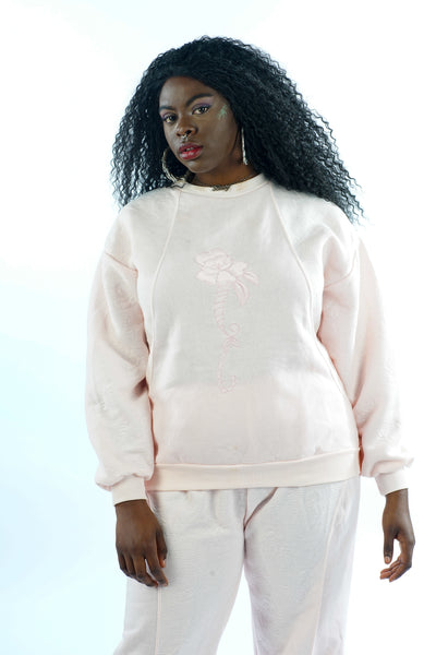 Vintage 90s Soft Pink Lounge Set - M/L