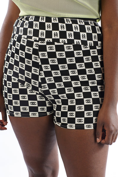 Current Checkered Cycle Shorts - M/L