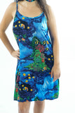 Vintage 90s Ocean Sea Tropical Coral Reef Fish Dress - XXS/XS/S