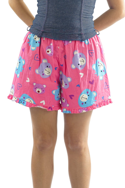 90's Pink Ruffle Bear Shorts