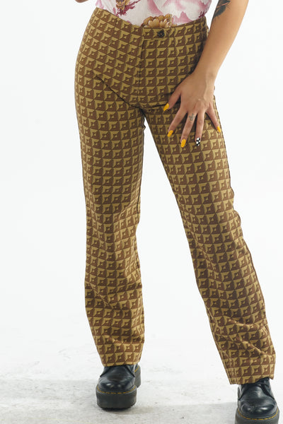 Vintage 90s Pinko Brown Trousers - S
