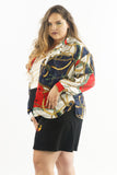 Vintage 80's Versace Gold Chains Blouse - 2X