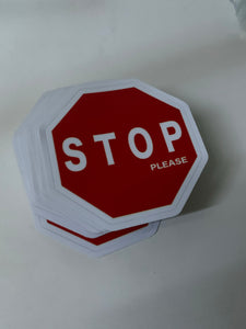 STOP please sticker