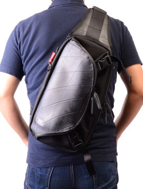 SEAL Expandable Handmade Recycled Inner Tube Sling Backpack