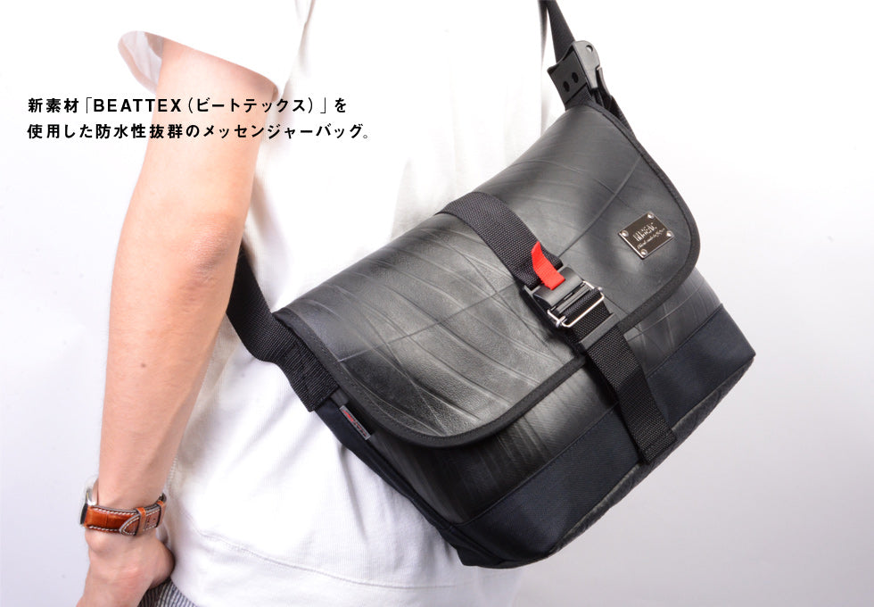 SEAL Recycled Tire Tube Made In Japan Weekend BEATTEX Shoulder Bag