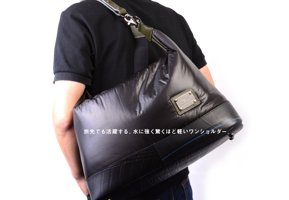 SEAL Recycled Tire Tube Made In Japan Fujikura Parachute Shoulder Bag
