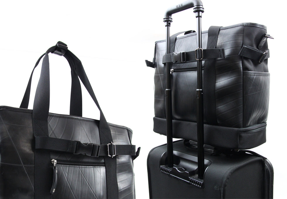 SEAL Recycled Tire Tube Made In Japan Weekender Tote With Shoe Compartment PS060 Luggage Compatible