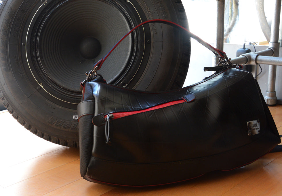 SEAL Recycled Tire Tube Made In Japan Shoulder Bag