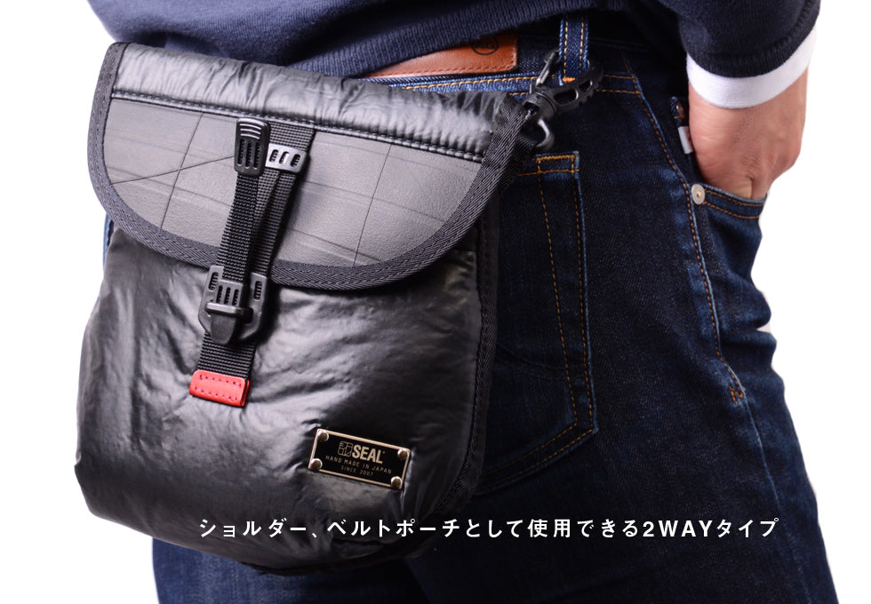 SEAL x Fujikura Parachute 2Way Mini Waist Bag (FS010) On Waist