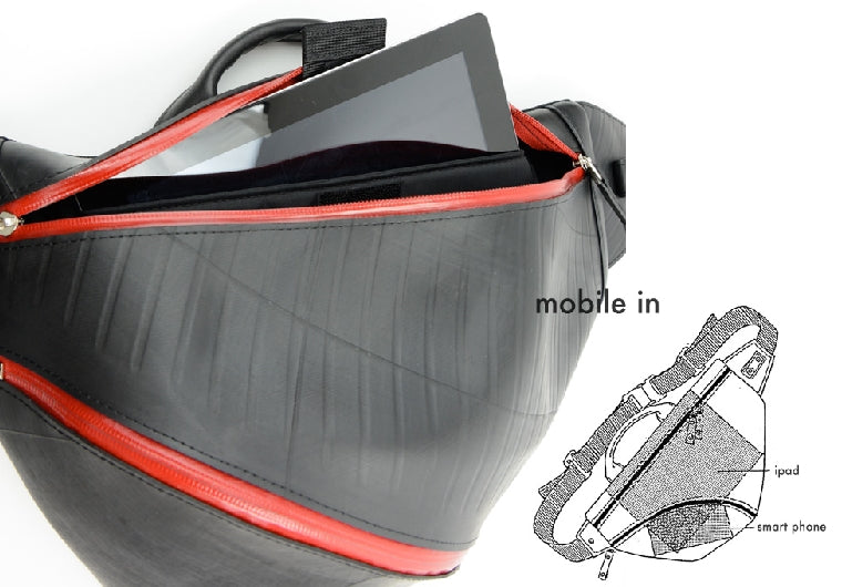 SEAL Recycled Tire Tube Triangle Sling Backpack