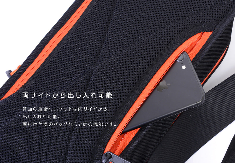 SEAL recycled Tire tube Smart Sling Backpack from Japan