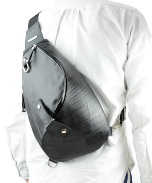 SEAL Morino Canvas Bum Bag MS0250 BLACK Over the Shoulder Back View