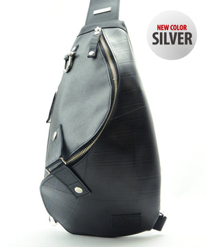 SEAL Morino Canvas Bum Bag MS0250 SILVER Front View