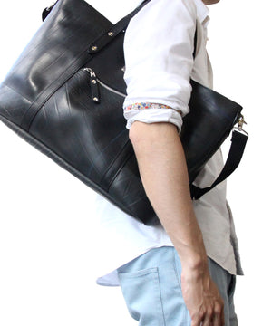 SEAL Work Tote for Men PS036 PLAIN BLACK Over the Shoulder View