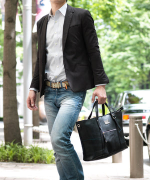 SEAL Work Tote for Men PS036 BLACK Hand Carry View