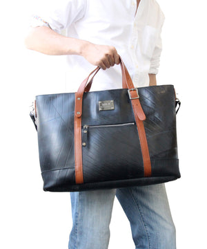 SEAL Work Tote for Men PS036 BROWN Hand Carry View