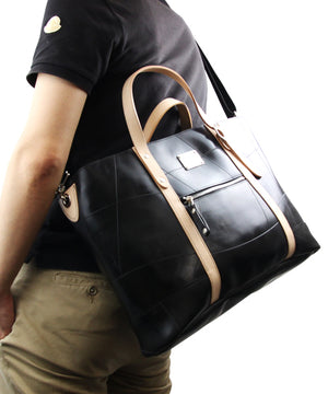 SEAL Work Tote for Men PS036 BEIGE Over The Shoulder View