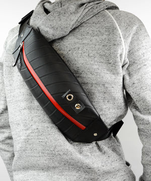 SEAL bum bag PS037s RED Over the Shoulder Back View