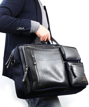 SEAL Carry on Bag for Business Travel BLACK Hand Carry View