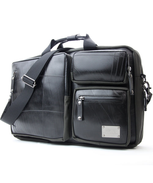 SEAL Carry on Bag for Business Travel BLACK Side View