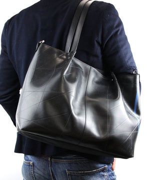SEAL Japan Made Carry-All Tote PS059 BLACK Over the Shoulder View