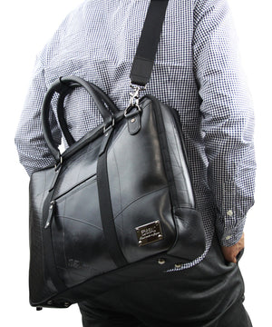 SEAL Briefcase for Men PS064 BLACK Detachable Shoulder Strap Carrying View